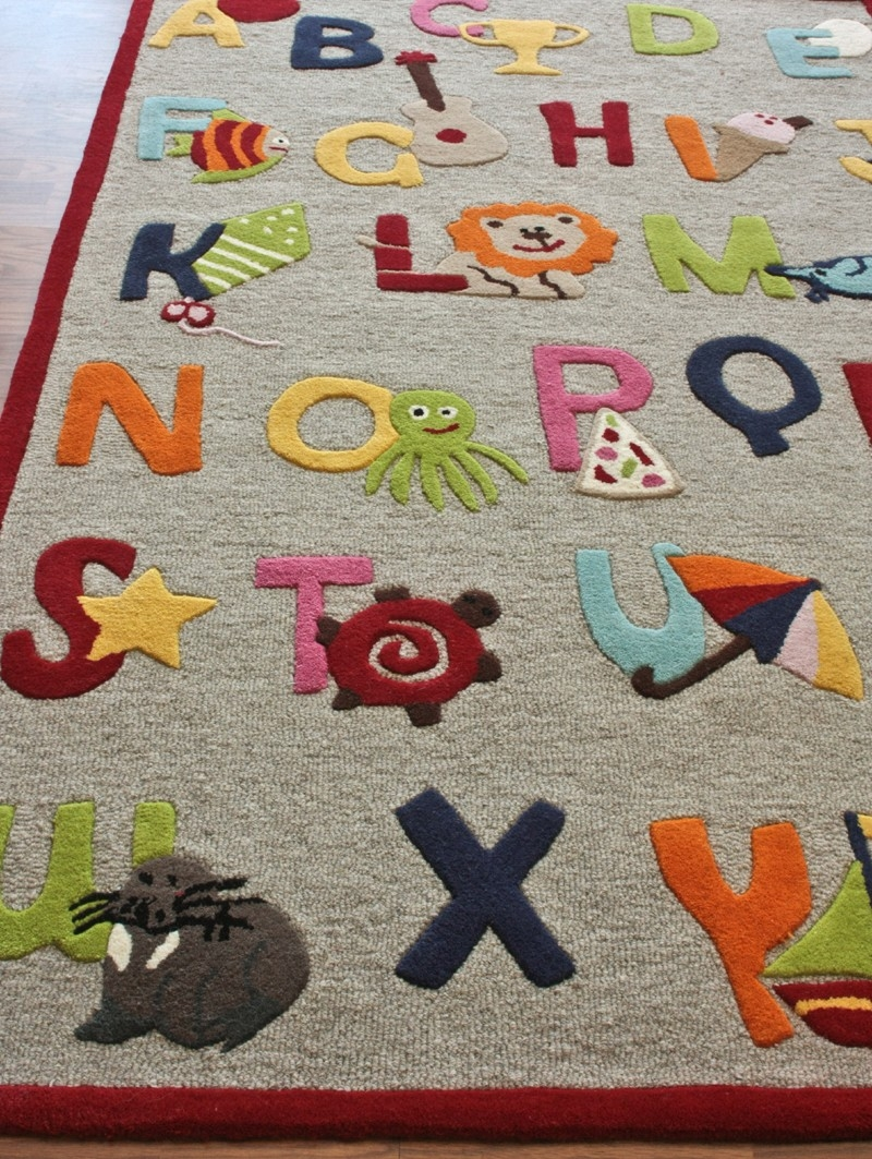 Kids Room Rugs Kidsu0027 Rugs Kids Pastel Oval Braided Area Rug With Regard To Pink Alphabet Rugs (View 7 of 15)