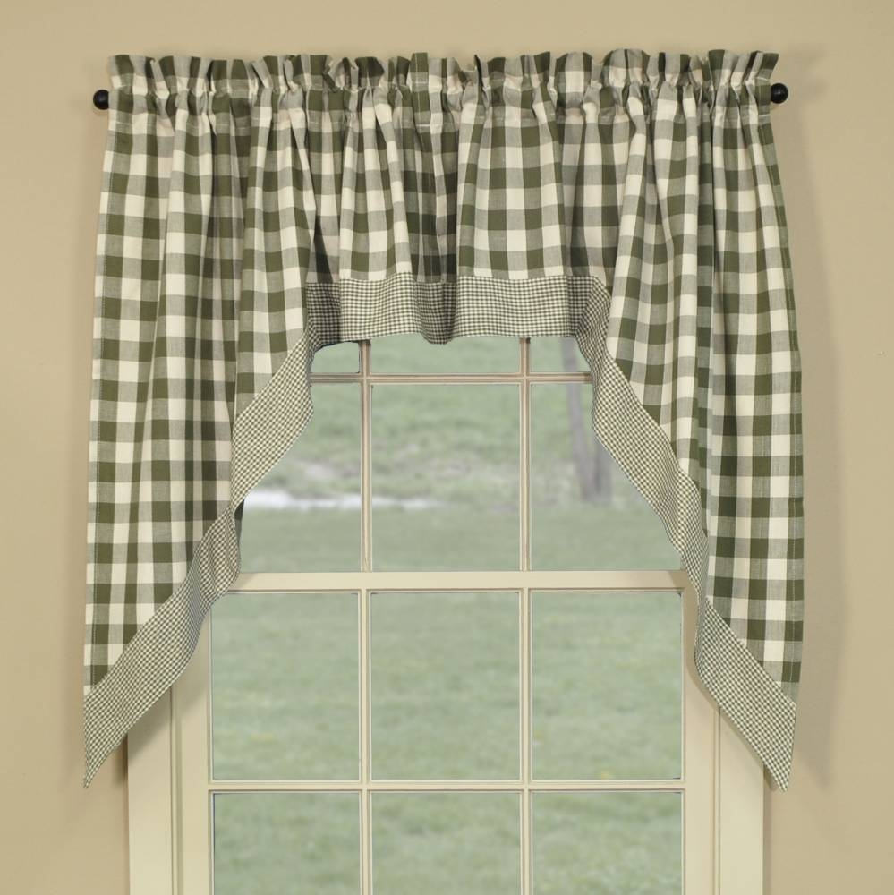Kitchen Curtains Sage Green Inspiring For Image 11 Of