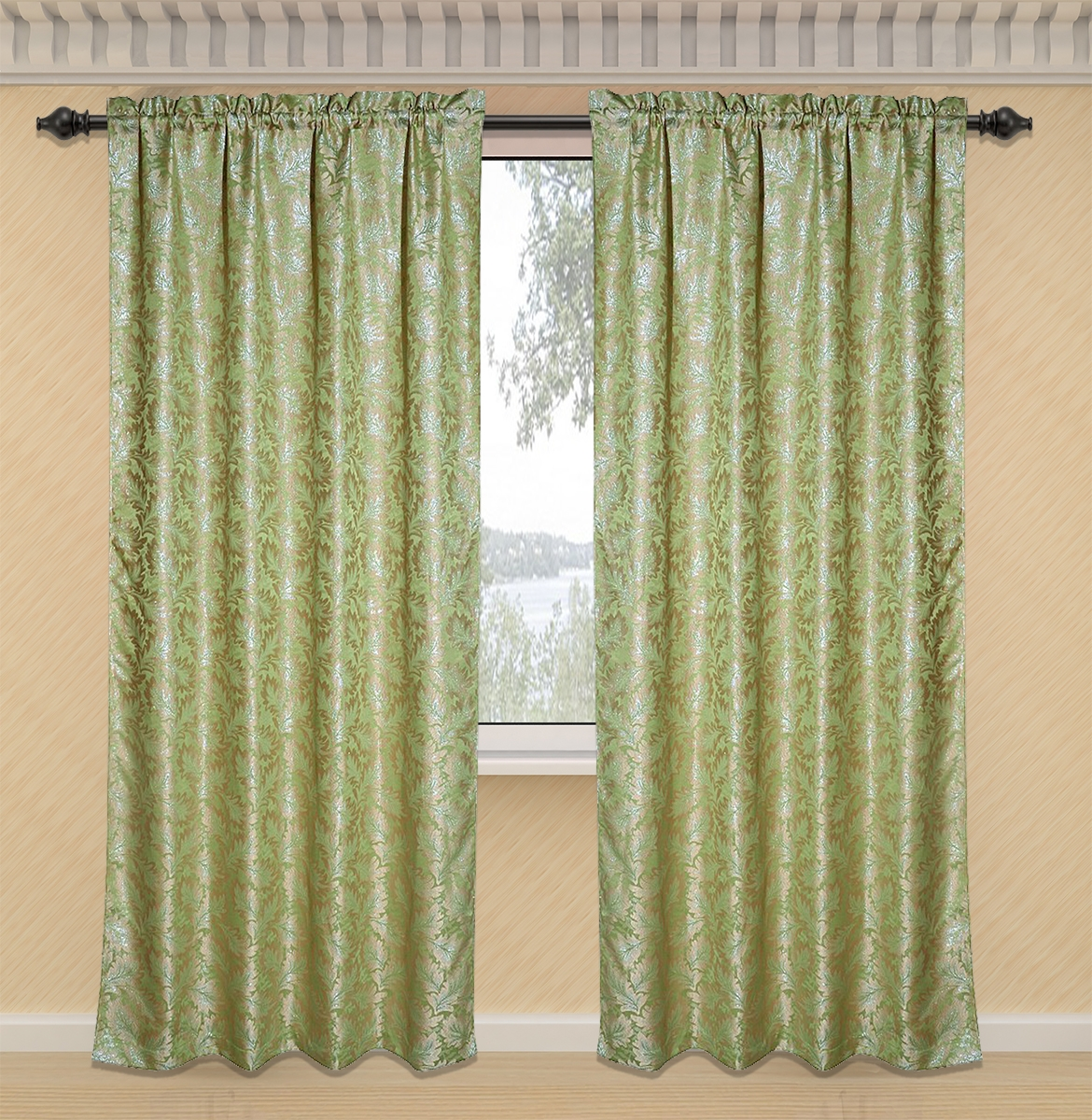 Kitchen Curtains Sage Green Kitchen Curtains Inspiring Pertaining To Sage Green Kitchen Curtains (Image 12 of 25)