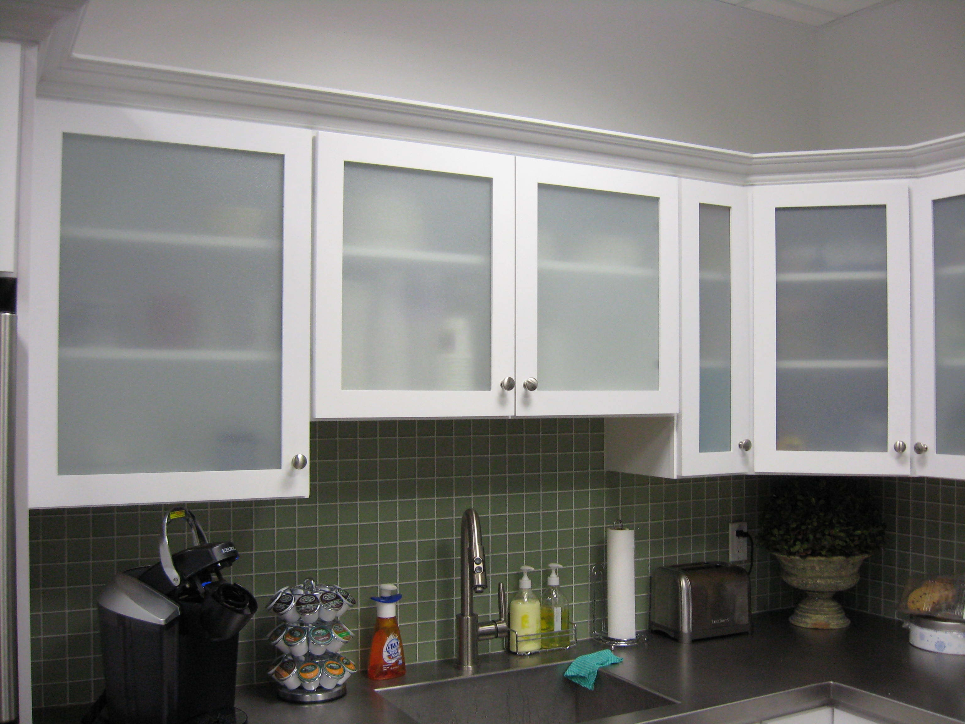 Kitchen Design Modern Range Cooktop Brown Full Kitchen Cabinet Within Glass Kitchen Shelves (Image 7 of 15)