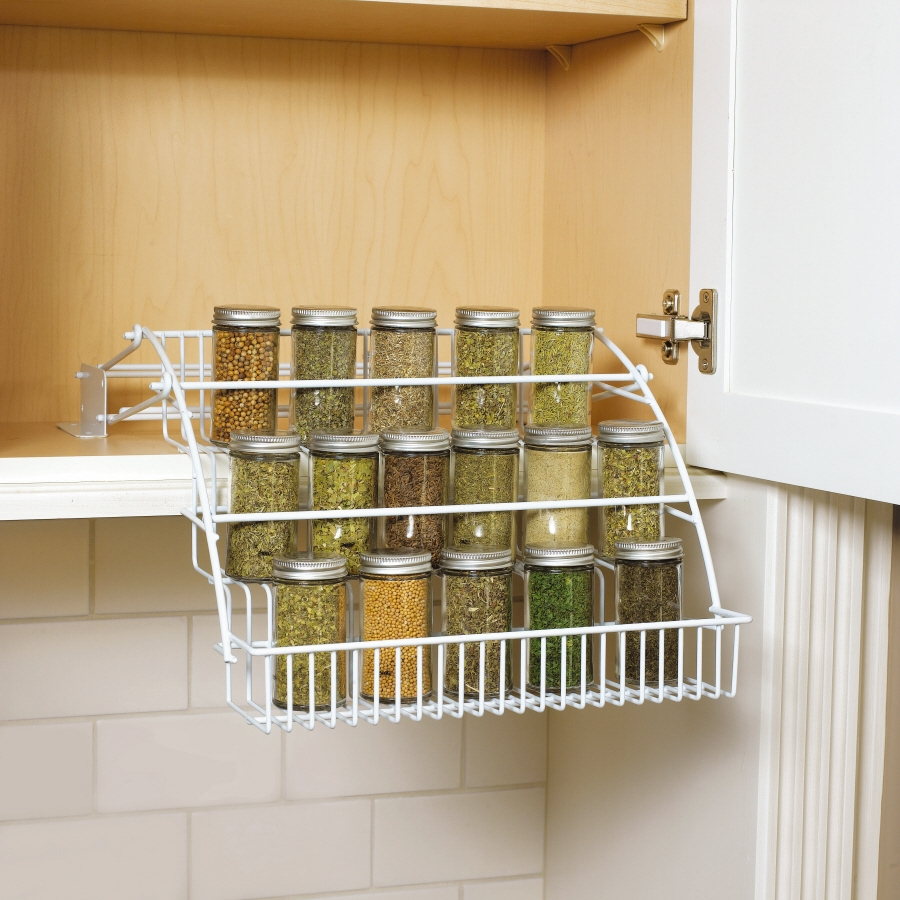 Kitchen Pull Out Spice Rack For Deliver More Goods To You In Cupboard Organizers (Image 16 of 25)