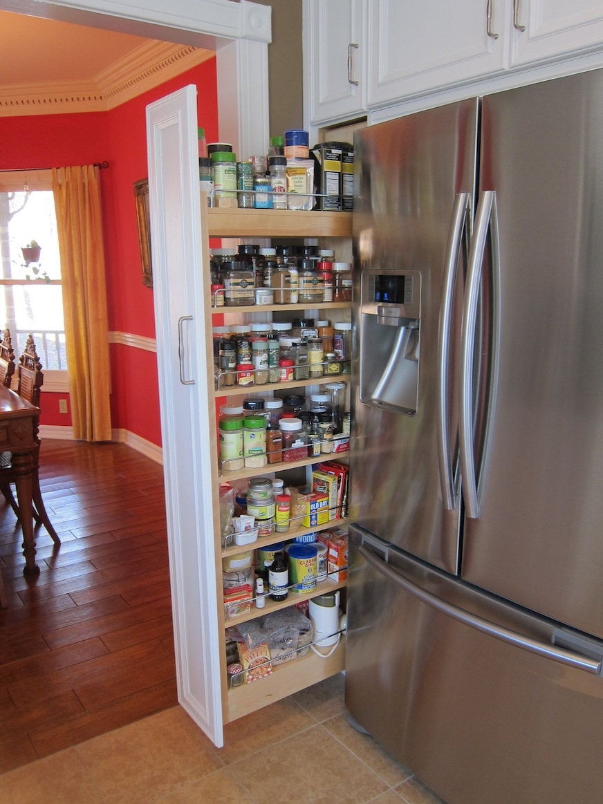 Kitchen Pull Out Spice Rack For Deliver More Goods To You Inside Storage Racks For Kitchen Cupboards (View 23 of 25)