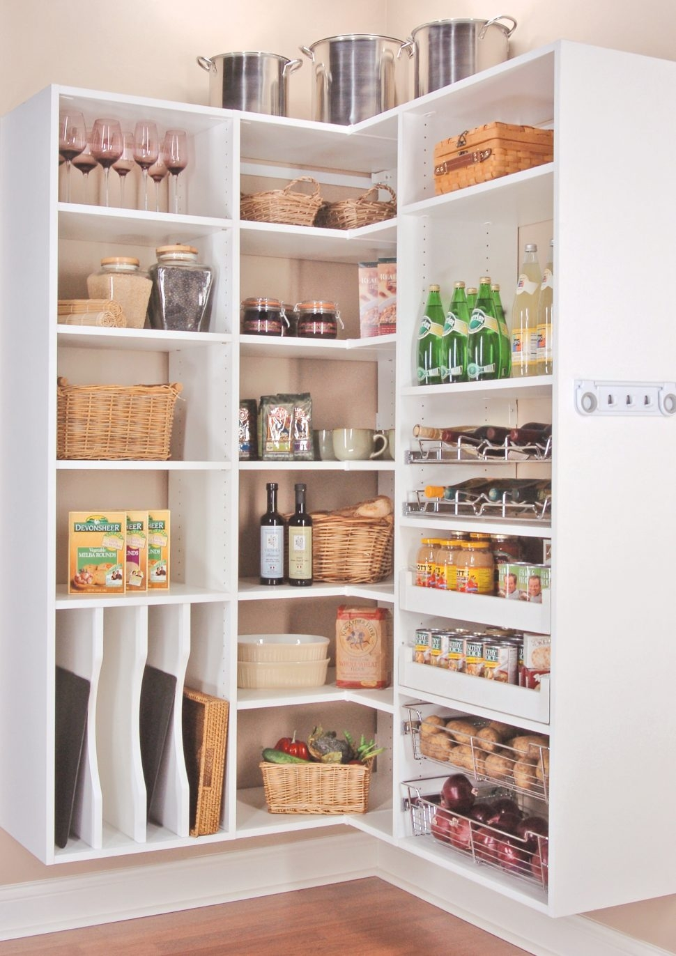 Kitchen Room Food Storage Cupboard Pantry Organization Tips For Large Cupboard With Shelves (Image 14 of 25)