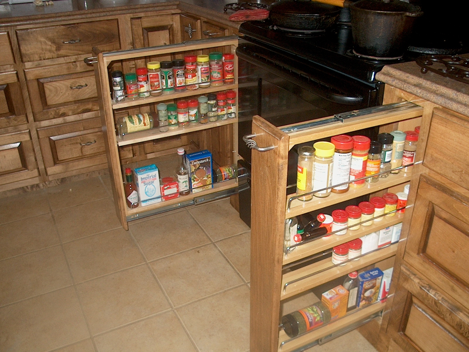 Kitchen Sliding Spice Rack For Nice Kitchen Cabinet Design In Storage Racks For Kitchen Cupboards (Image 18 of 25)