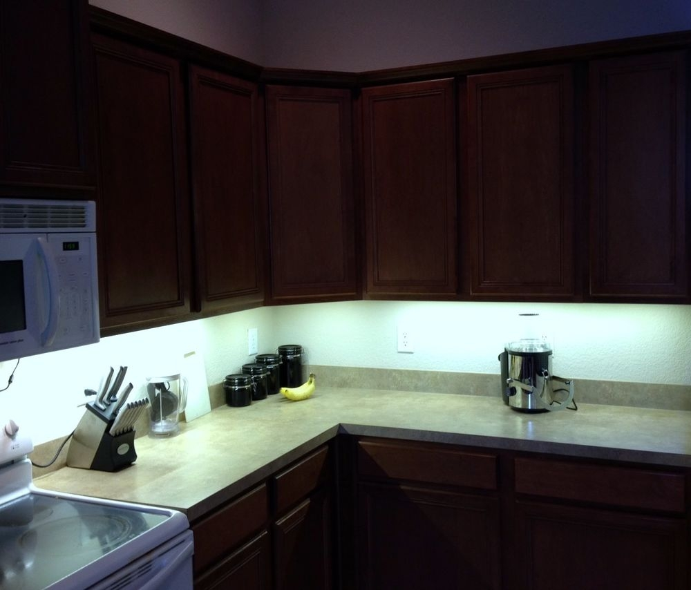 Kitchen Under Cabinet Professional Lighting Kit Cool White Led For Kitchen Under Cupboard Lights (Image 18 of 25)