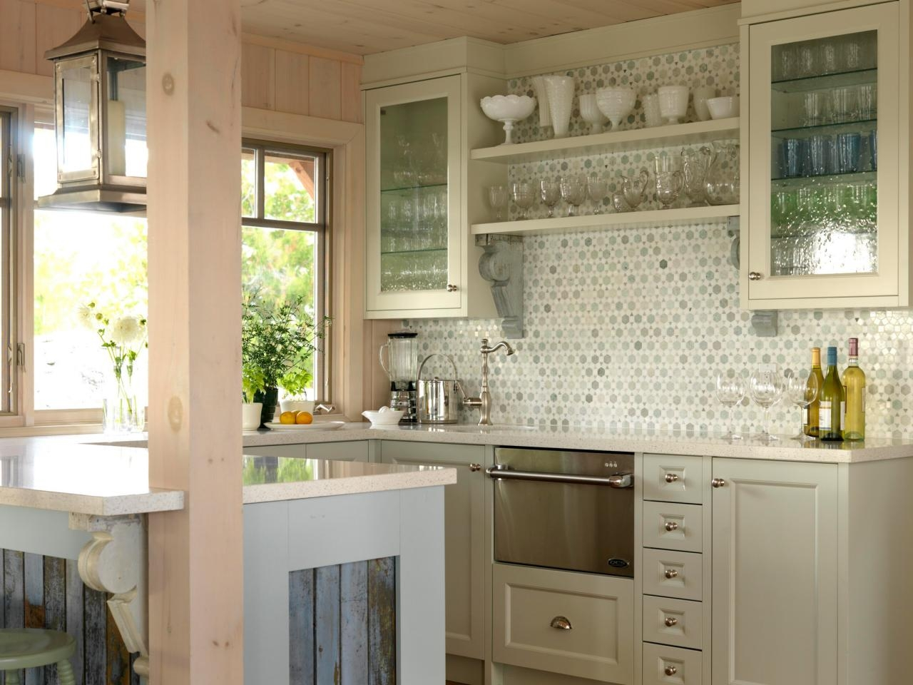 Kitchen Wall Cabinets With Glass Doors For Glass Kitchen Shelves (Image 12 of 15)