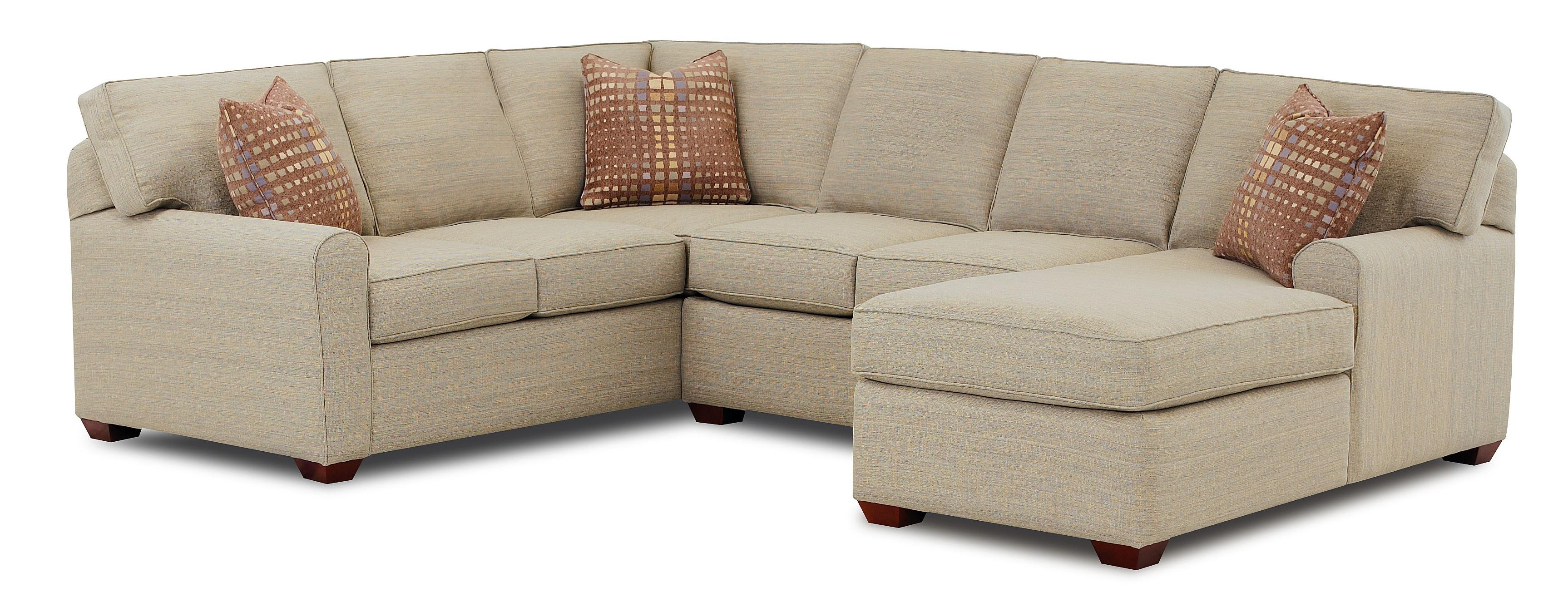 Klaussner Hybrid Sectional Sofa With Right Facing Chaise Lounge Throughout Chaise Sofa Chairs (Image 8 of 15)