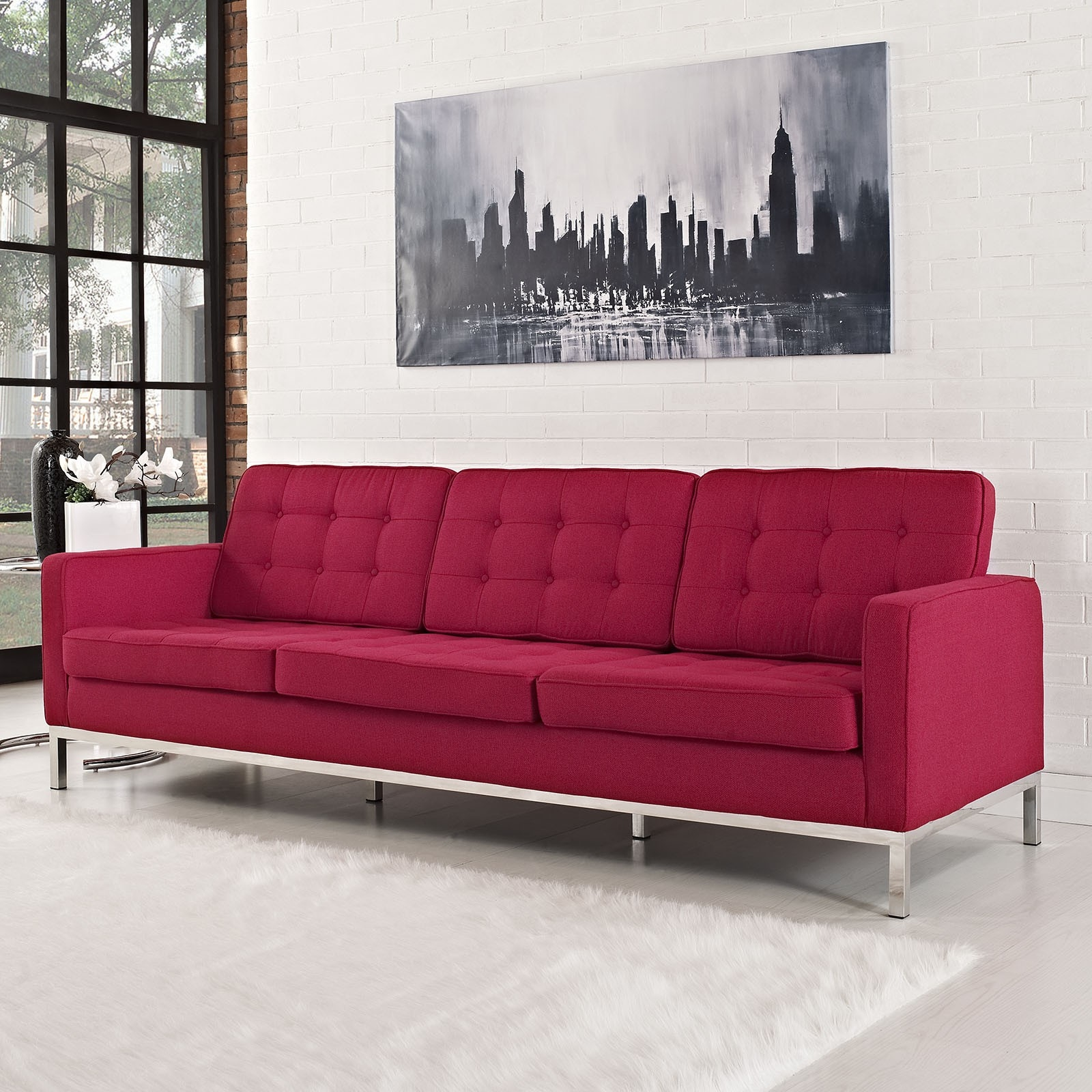 Knoll Florence 2 Seats Sofa In The Shop River Academy With Florence Knoll Style Sofas (Image 11 of 15)