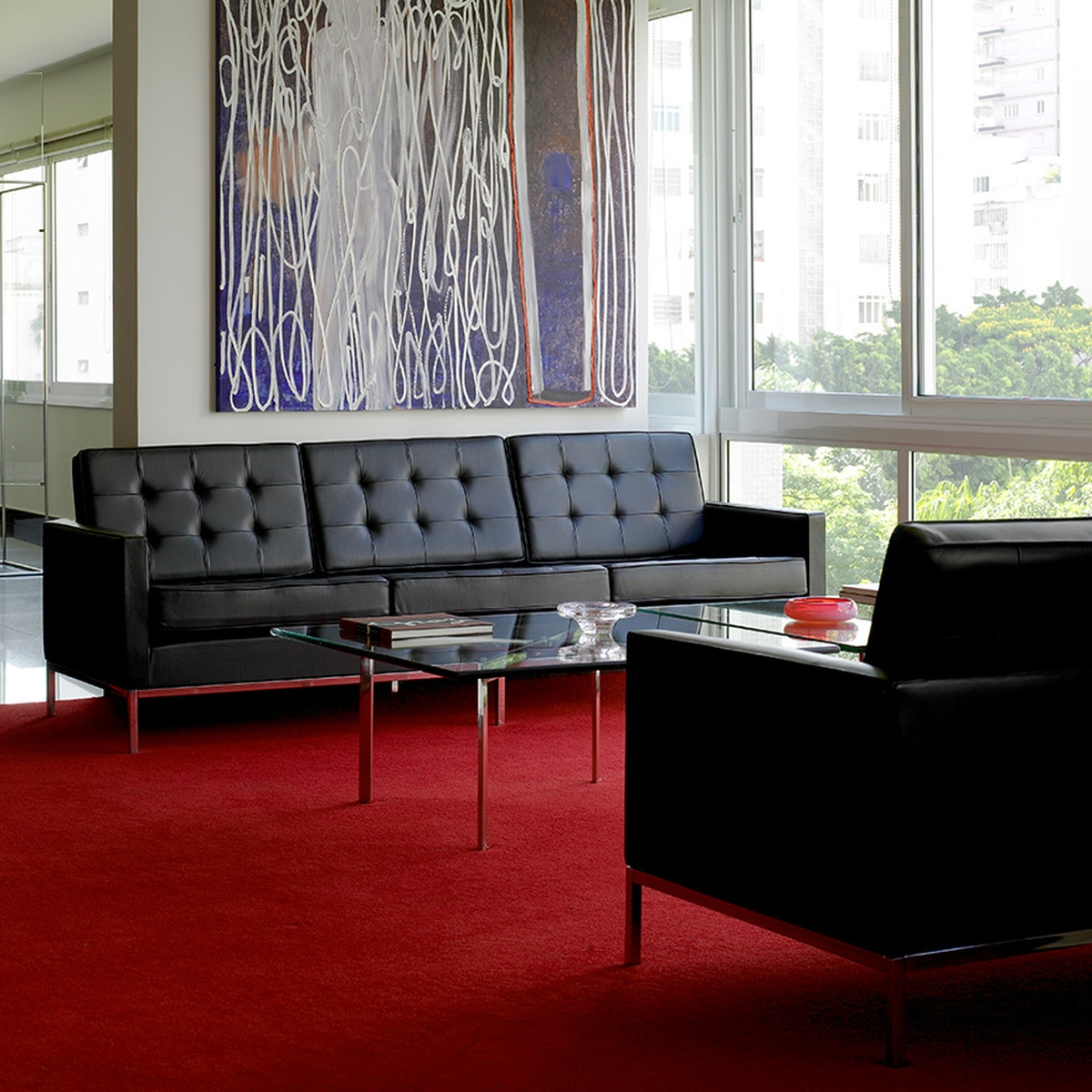 Knoll Florence 3 Seats Sofa In The Shop In Florence Knoll Living Room Sofas (Image 12 of 15)