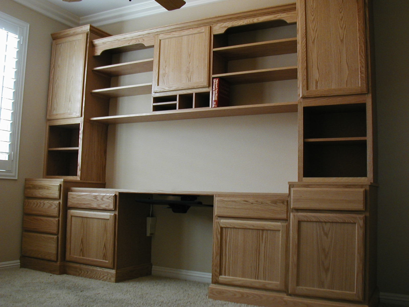Knotty Alder Office Wall Cabinets With Shelf Storage Under Cabinet Pertaining To Office Wall Cupboards (Image 6 of 15)