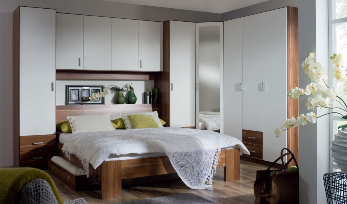 Kreta Overbed Unit For Bed Width Up To 160cm Blue Ocean Interiors Inside Overbed Wardrobes (Image 10 of 25)