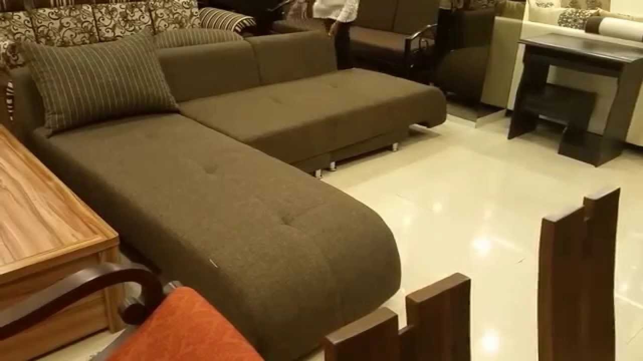 L Shaped Sofa Cum Bed In Mumbai Youtube With Regard To L Shaped Sofa Bed (Image 11 of 15)