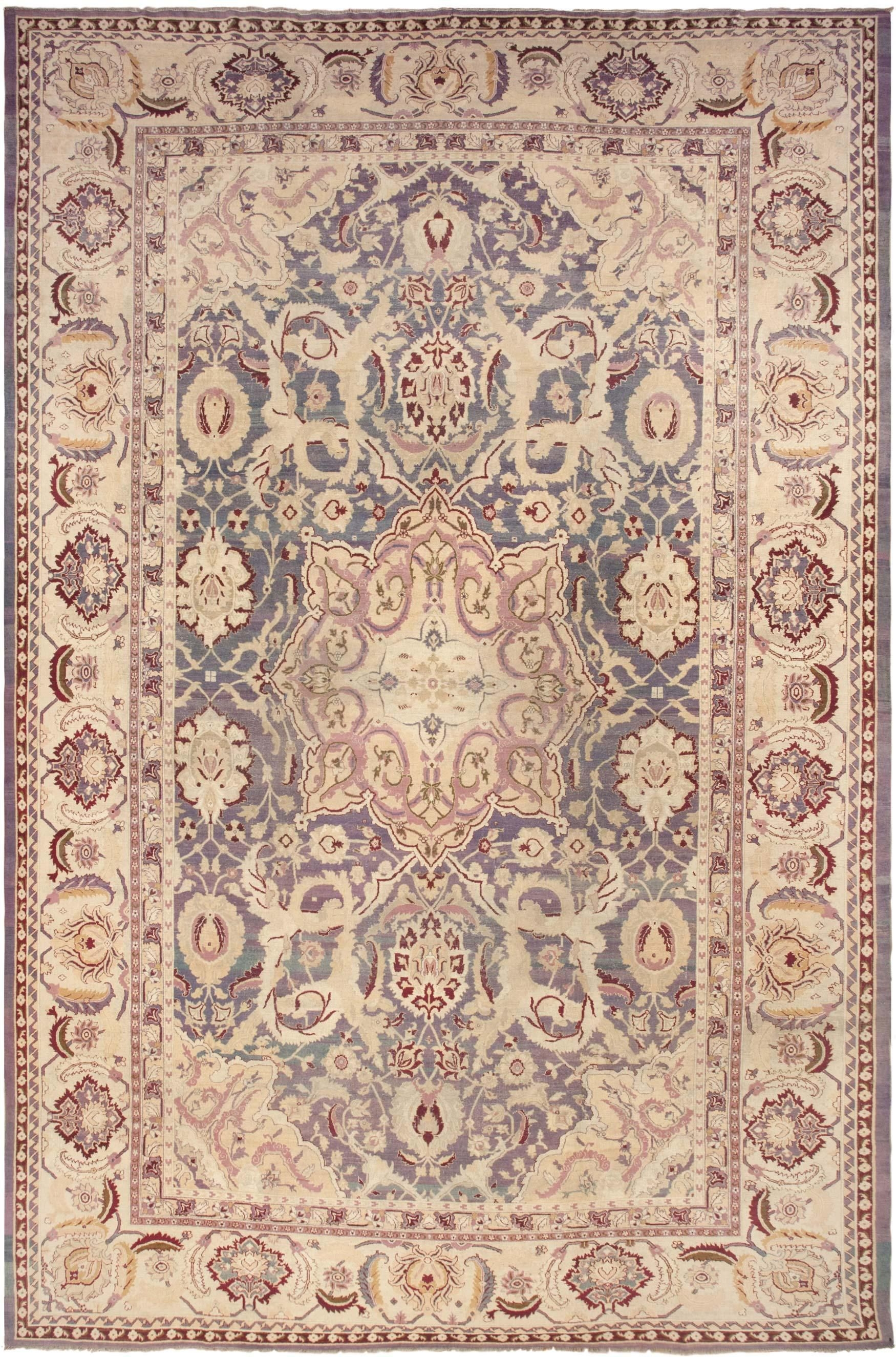 Large Antique Indian Agra Rug 45976 Nazmiyal Pertaining To Agra Rugs (Image 11 of 15)