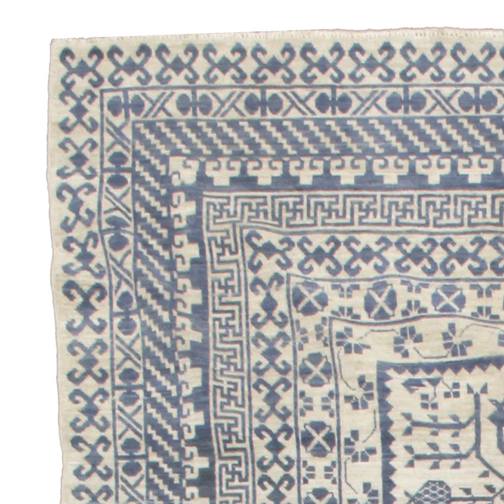 Large Blue Samarkand Rug N10668 Doris Leslie Blau With Large Geometric Rugs (Image 10 of 15)
