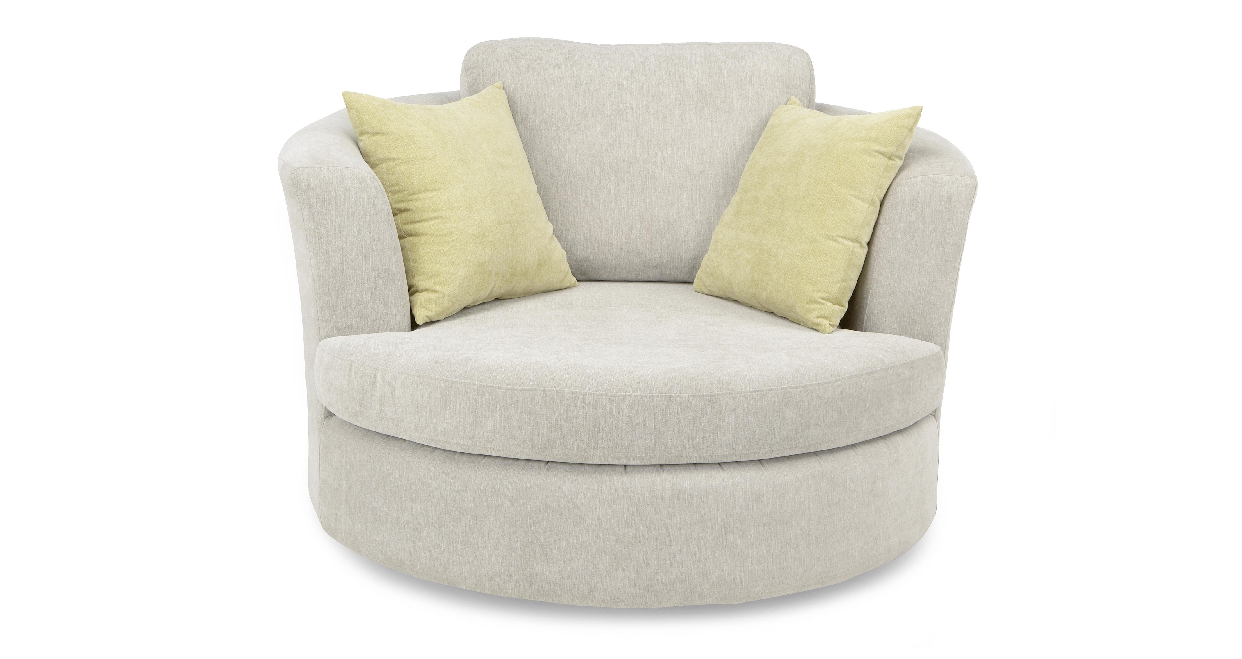 Large Round Swivel Chair Home Chair Designs Intended For Cuddler Swivel Sofa Chairs (Image 9 of 15)