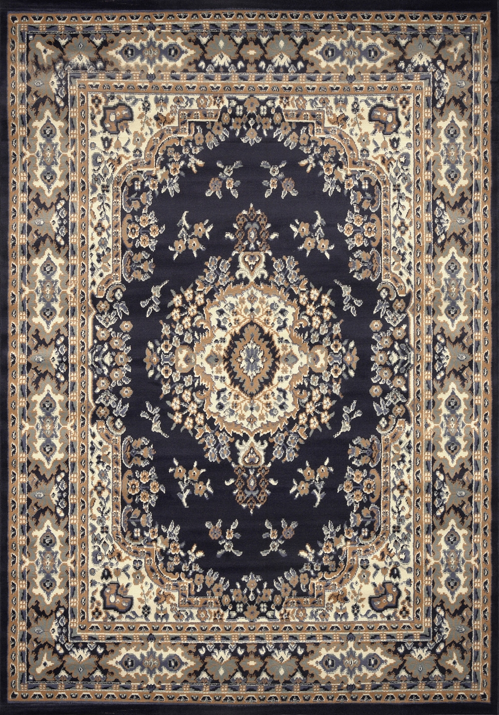 Large Traditional 8×11 Oriental Area Rug Persian Style Carpet For Persian Style Wool Rugs (Image 6 of 15)