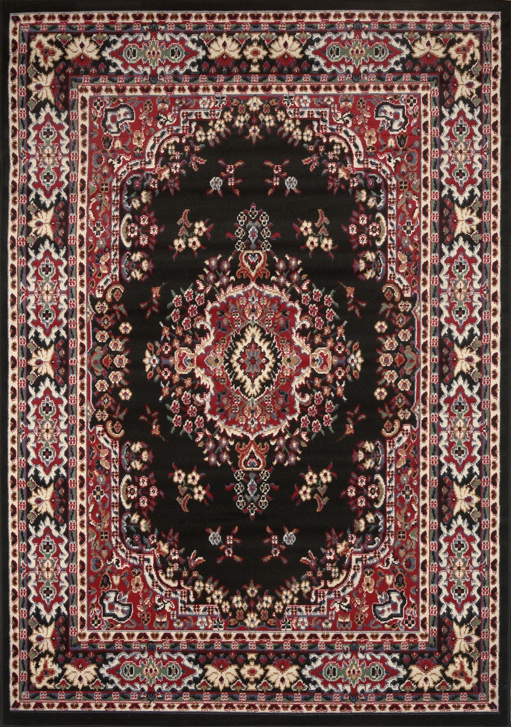 Large Traditional 8×11 Oriental Area Rug Persian Style Carpet Regarding Persian Style Wool Rugs (View 13 of 15)
