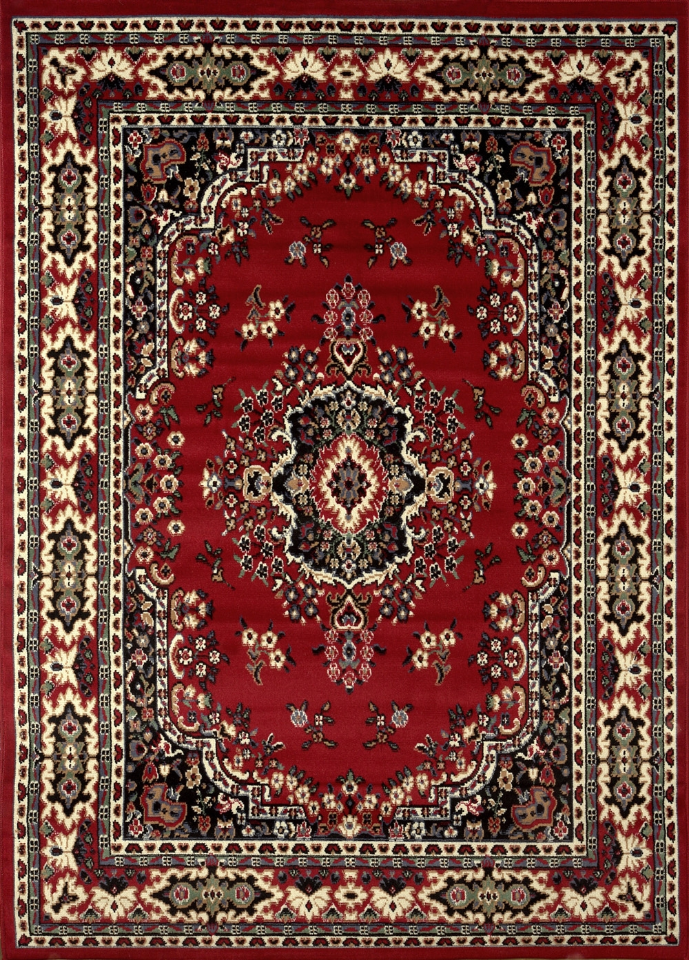Large Traditional 8×11 Oriental Area Rug Persian Style Carpet Within Persian Style Wool Rugs (Image 10 of 15)