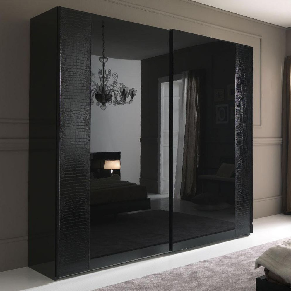 Lavish Dark Wardrobe Design Inspiration With Frameless Sliding In Dark Wardrobes (Image 10 of 15)