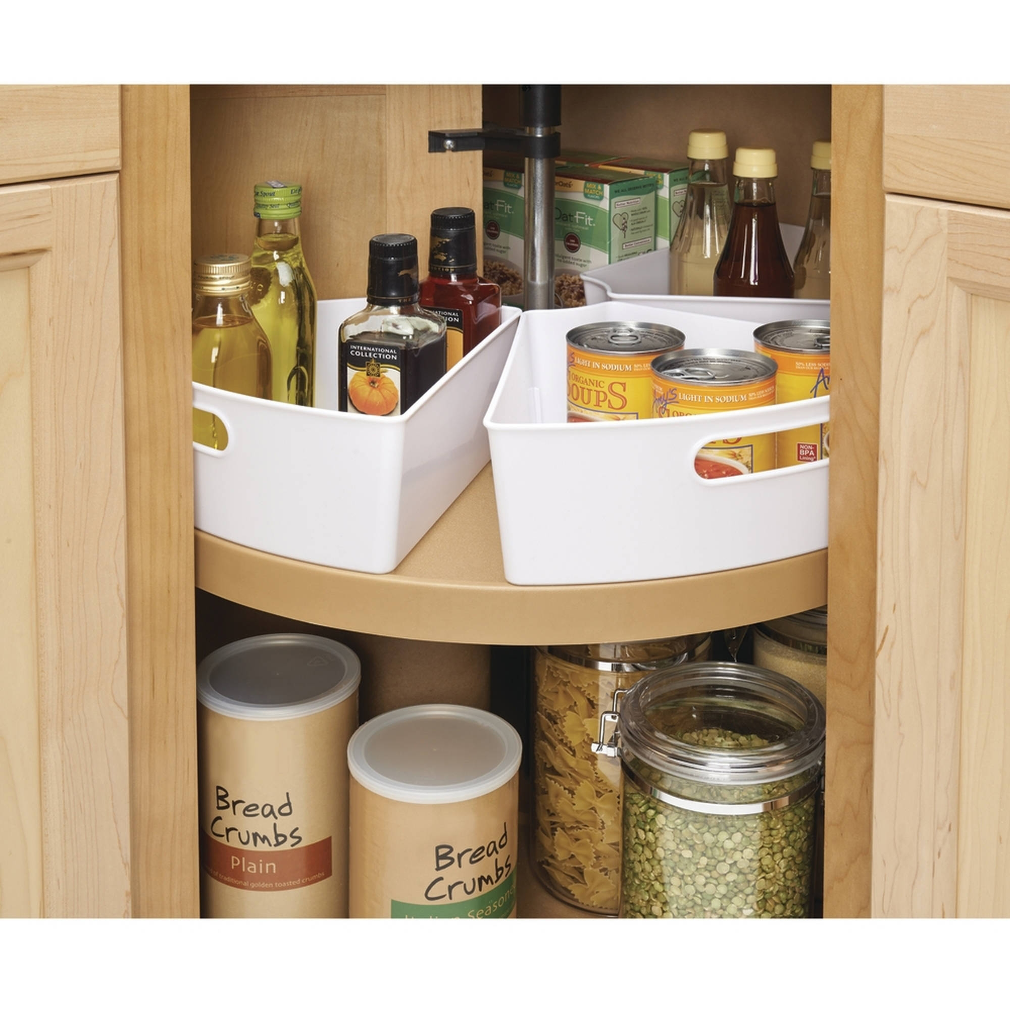Lazy Susan Turntable Organizers With Regard To Cupboard Organizers (Image 17 of 25)