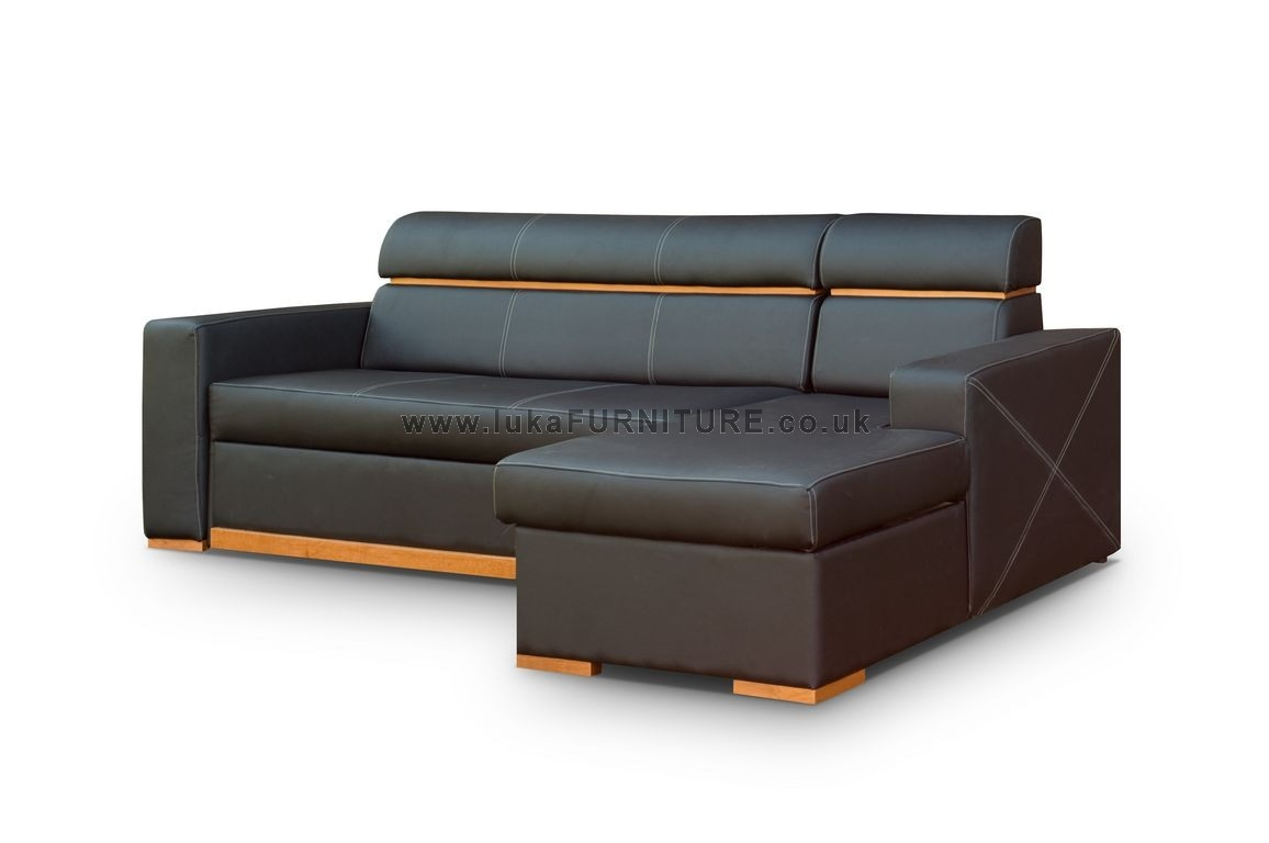 Leather Corner Sofa Bed Becky Sofa Beds Pinterest Throughout Leather Corner Sofa Bed (Image 6 of 15)