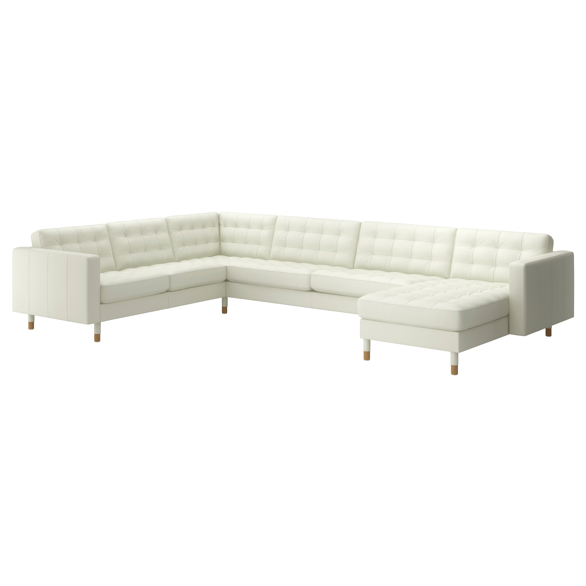 Leather Faux Leather Couches Chairs Ottomans Ikea For White Sofa Chairs (Image 8 of 15)