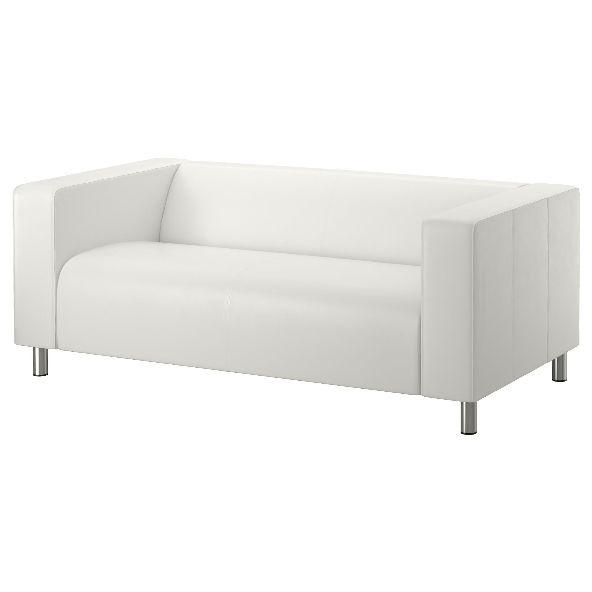 Leather Faux Leather Couches Chairs Ottomans Ikea In White Sofa Chairs (Image 9 of 15)