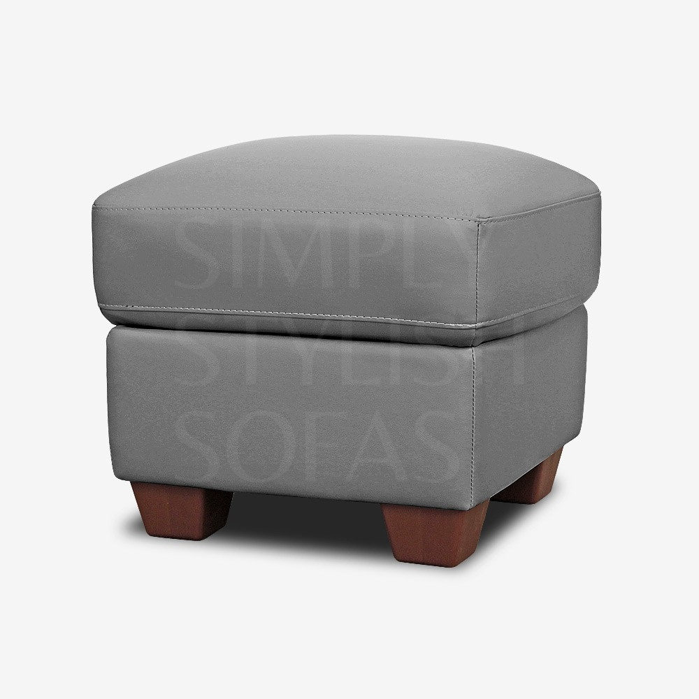 Leather Footstools Storage Ottomans Pouffes Simply Stylish Sofas With Leather Footstools And Pouffes (Image 8 of 15)
