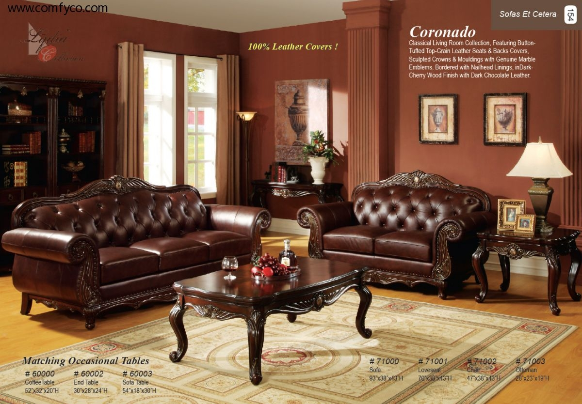 Leather Livingroom With Regard To Traditional Leather Couch (Image 8 of 15)