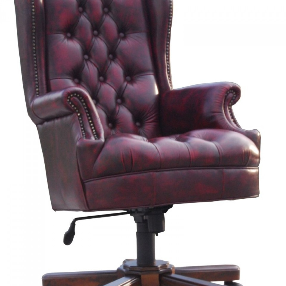 Leather Office Chair Nadia Chesterfield Brisbane Devlin With Regard To Chesterfield Recliners (View 4 of 15)