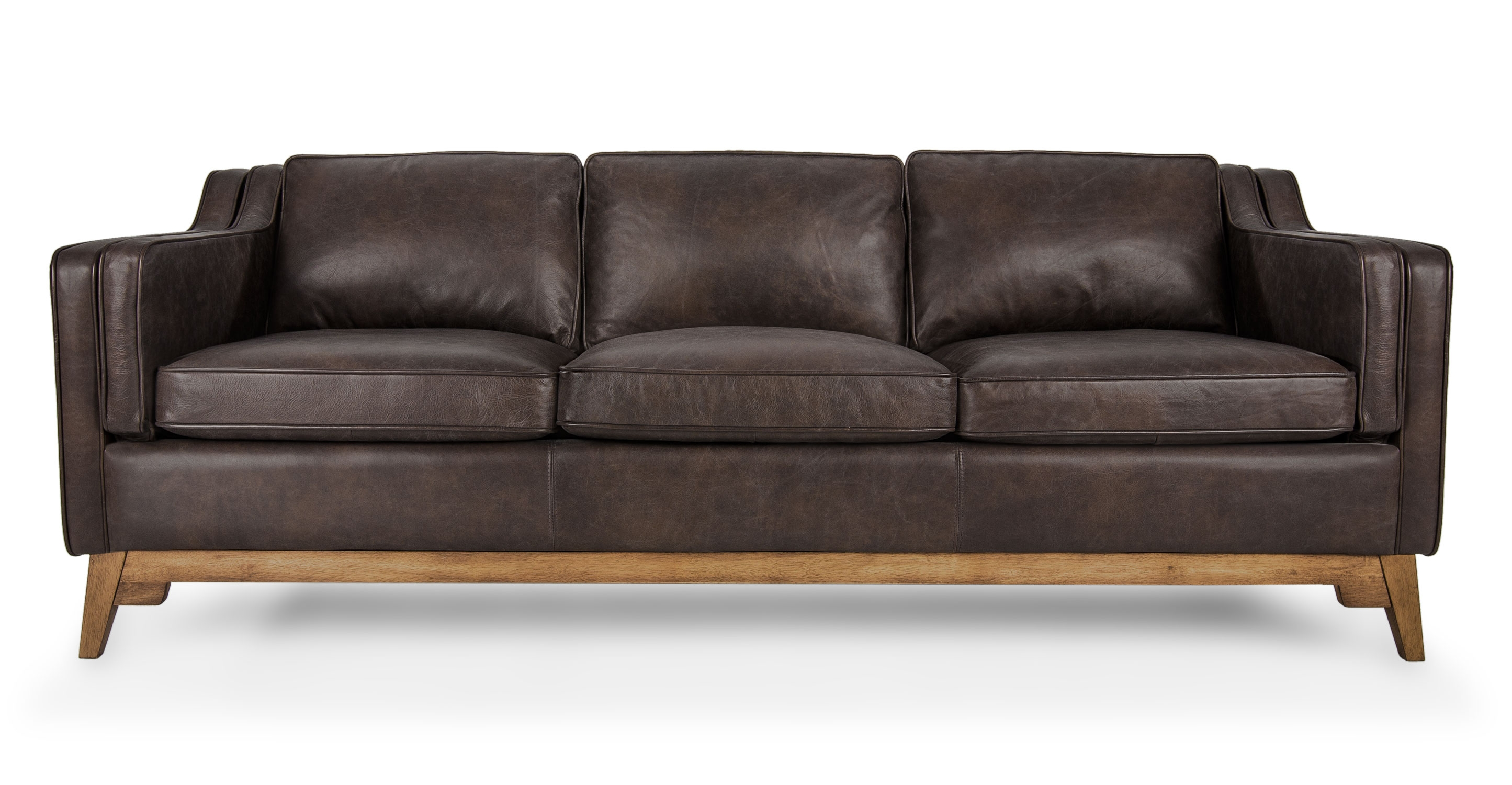 Leather Sofa In Oxford Brown Article Worthington Modern Inside Oxford Sofas (Image 3 of 15)