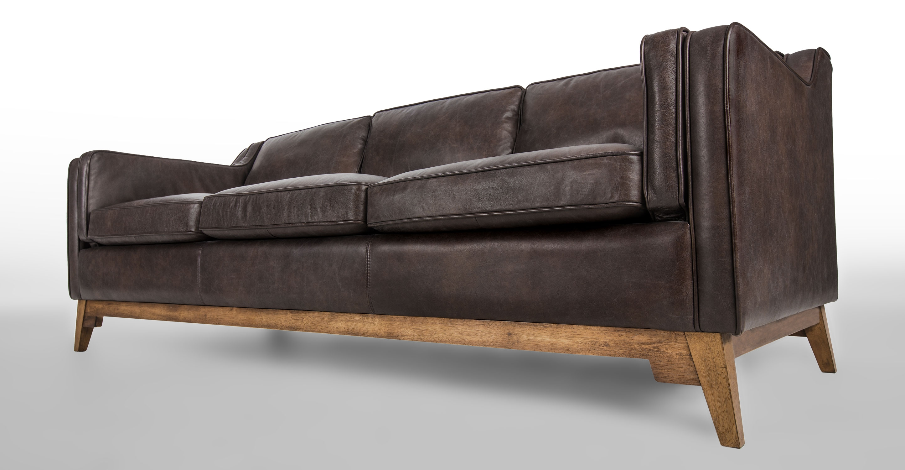 Leather Sofa In Oxford Brown Article Worthington Modern Intended For Oxford Sofas (Image 4 of 15)