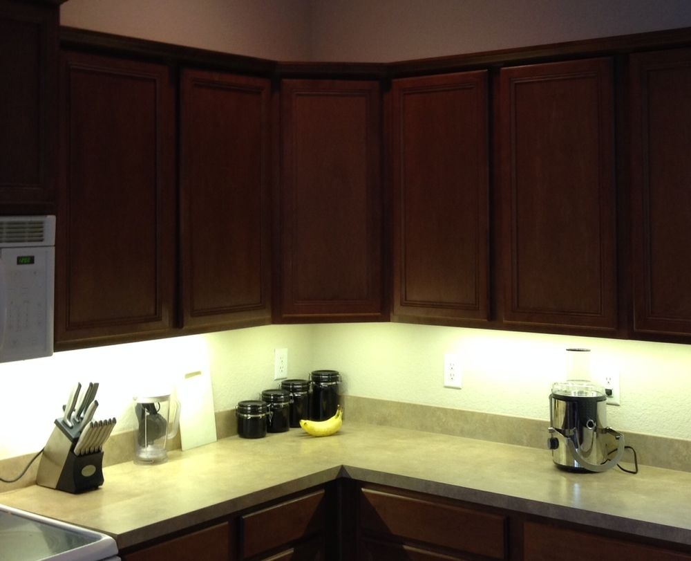 Led Kitchen Strip Lights Under Cabinet Kassus Winters Texas With Regard To Kitchen Under Cupboard Lights (Image 19 of 25)