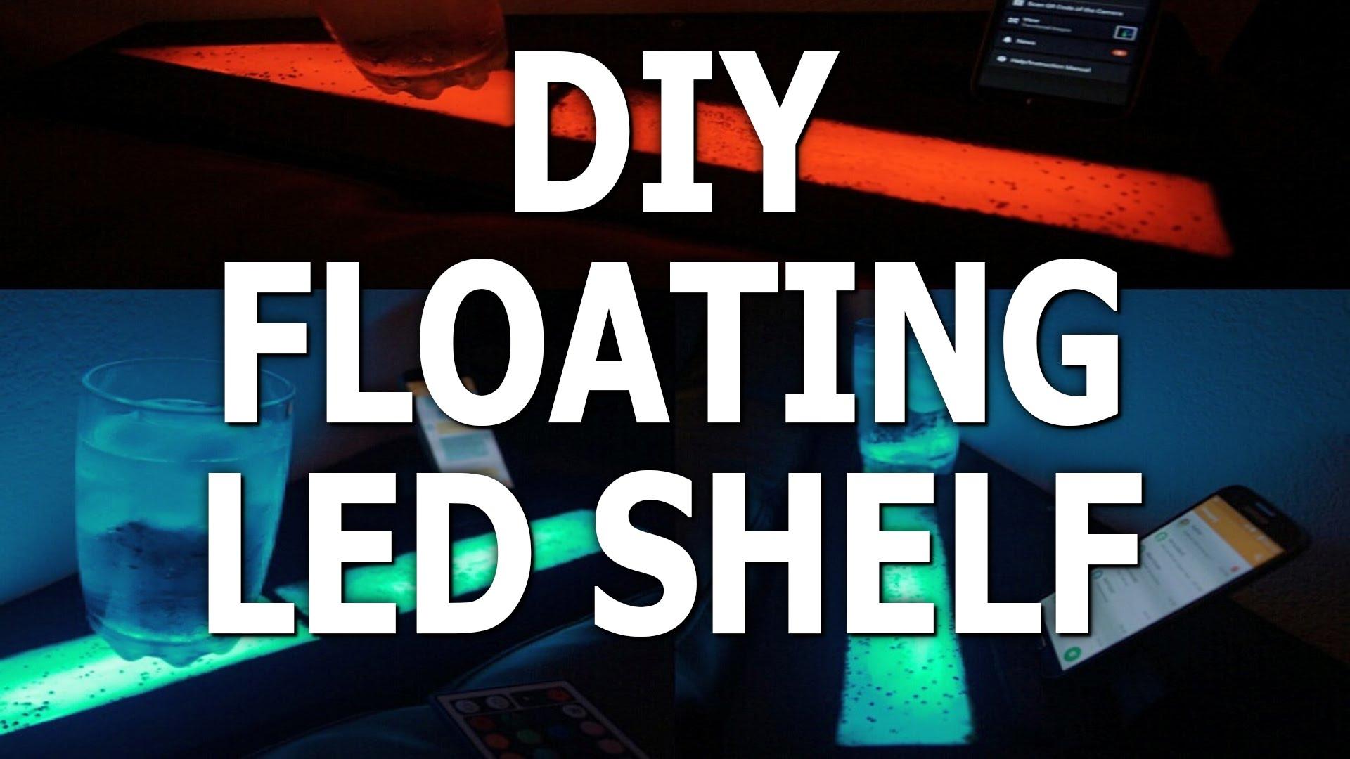 Led Strip Floating Shelf Furniture Lighting Youtube Pertaining To Led Floating Shelves (View 11 of 15)