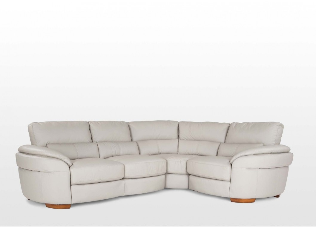 Left Arm Grey Leather Corner Sofa Aspen With Regard To Aspen Leather Sofas (Image 13 of 15)