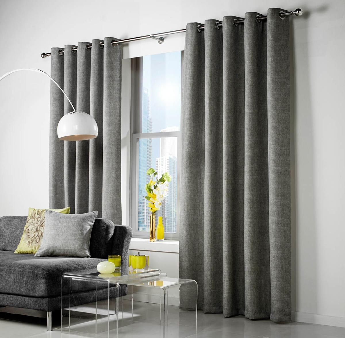 25 Photos Grey Eyelet Curtains Curtain Ideas