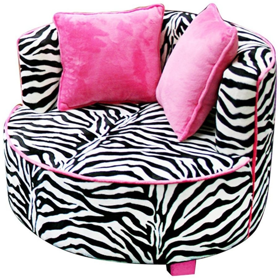 Leopard Print Chairs For Sale Animal Print Chair Cushions And Pertaining To Kids Sofa Chair And Ottoman Set Zebra (Image 10 of 15)