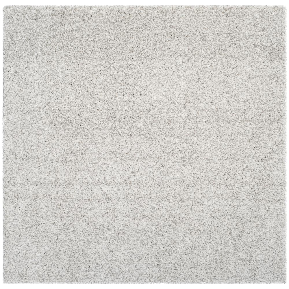 Light Gray Shag Rug Roselawnlutheran Throughout Light Grey And White Rugs (Image 4 of 15)