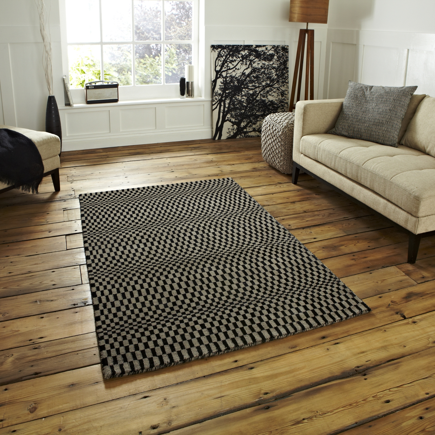 Living Room 15 Sonic Sn 01 Wave Effect Optical Illusion Rug Inside Large Wool Rugs (Image 9 of 15)