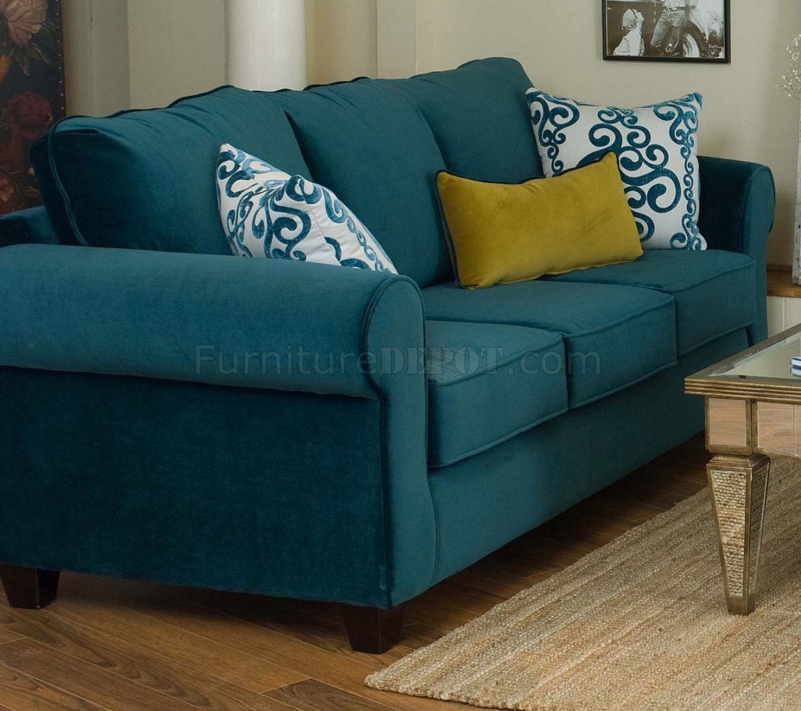 Living Room Decorating Leather Sofa Living Room Interior Designs With Blue Sofa Chairs (Image 9 of 15)