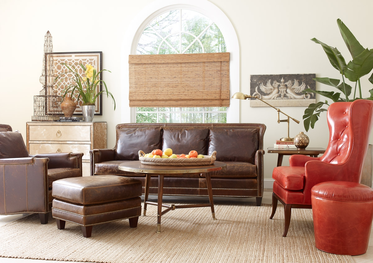 Living Room Leather Furniture For Living Room Sofas And Chairs (Image 10 of 15)