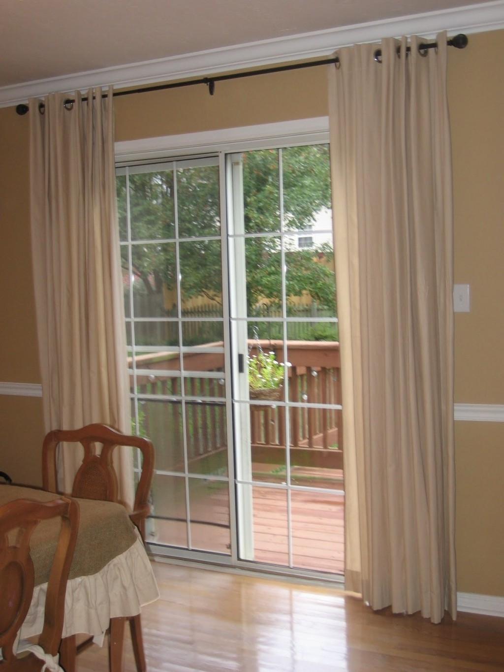 Living Room Sliding Glass Door Curtains Astounding Sliding Glass With Sliding Glass Door Curtains (Image 13 of 25)