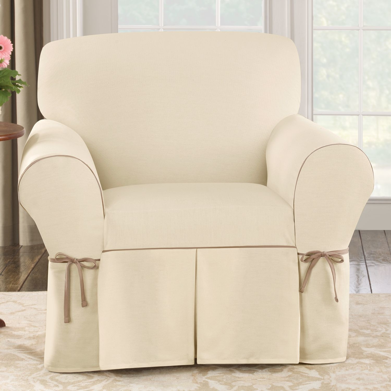 Living Room Slip Covers For Chairs Club Chair Slipcovers With Regard To Sofa And Chair Covers (Image 7 of 15)