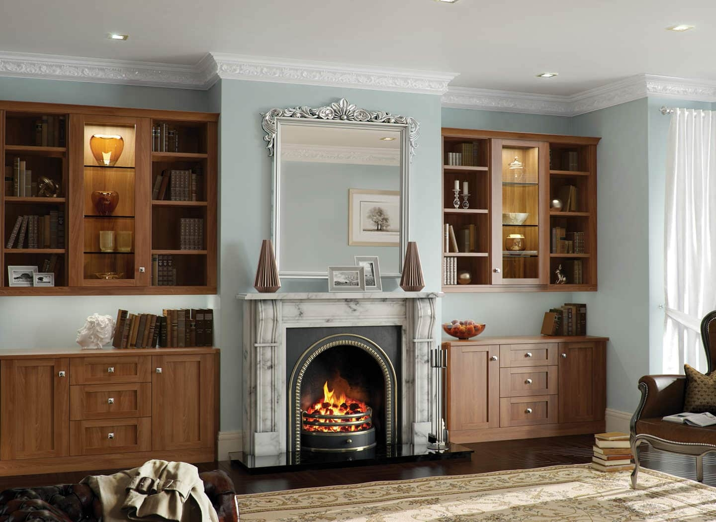 Living Room Storage Furniture Bespoke Fitted Wardrobes Traditional Pertaining To Fitted Cabinets (Image 14 of 15)