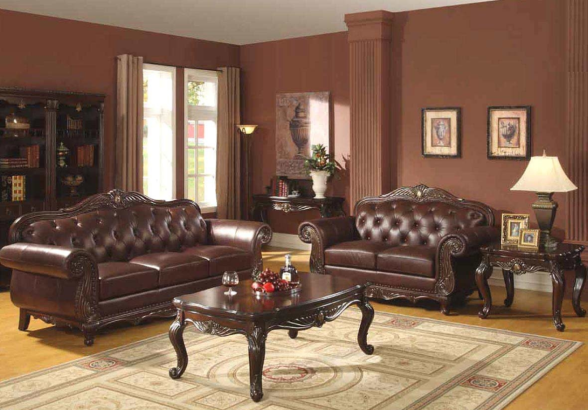 Living Room Traditional Leather Navpa2016 With Regard To Victorian Leather Sofas (Image 4 of 15)