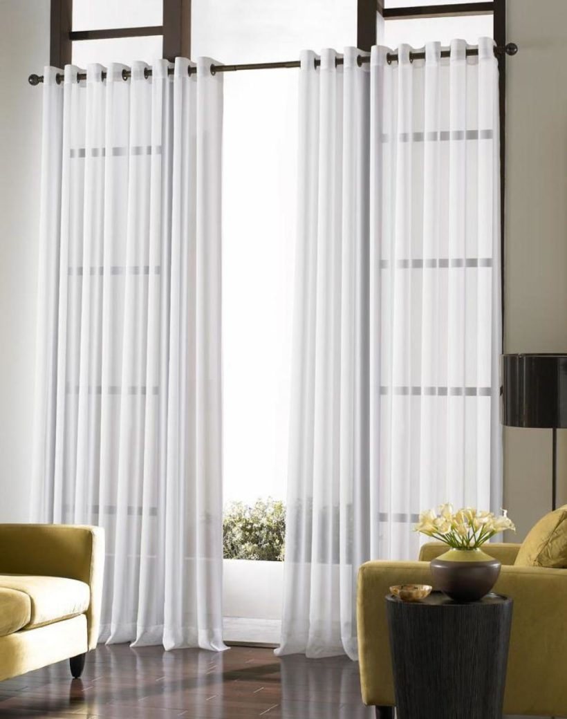 Living Room Window Curtains With Amazing Sheer Curtains For Regarding Dark Grey Sheer Curtains (Image 20 of 25)