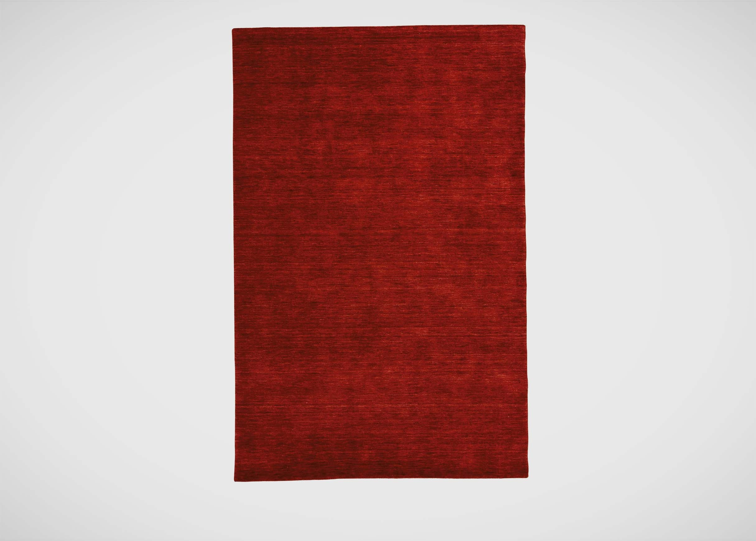 Loomed Wool Rug Garnet Red Solid Rugs With Red Wool Rugs (Image 6 of 15)