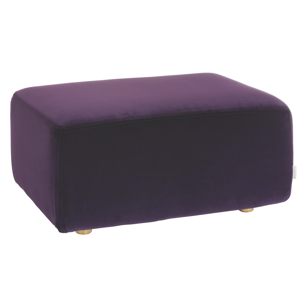 Louis Purple Velvet Footstool Buy Now At Habitat Uk Within Velvet Footstool (Image 12 of 15)