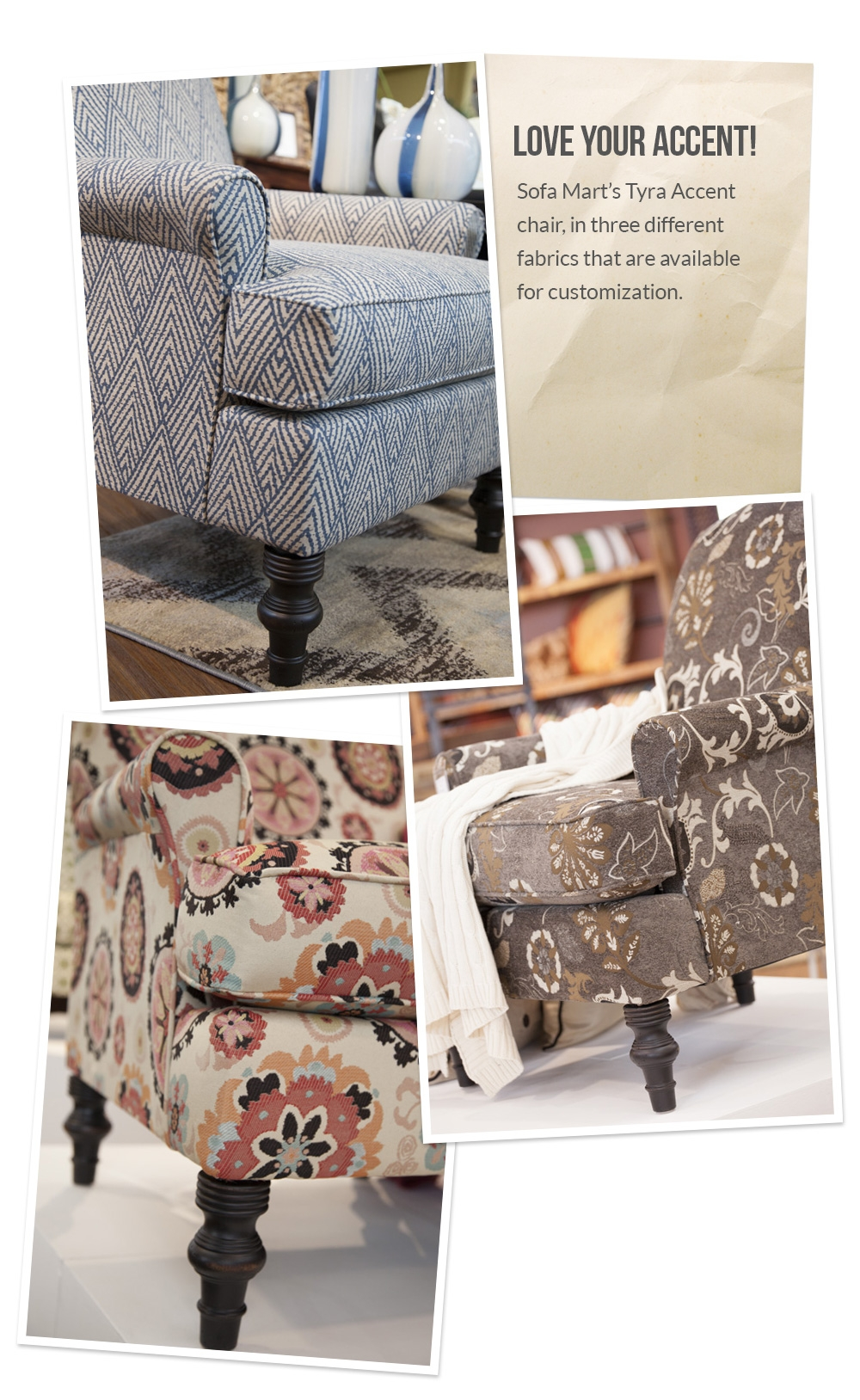 Love Your Accent Custom Accent Chair Fabrics Front Door Intended For Sofa Mart Chairs (Image 7 of 15)
