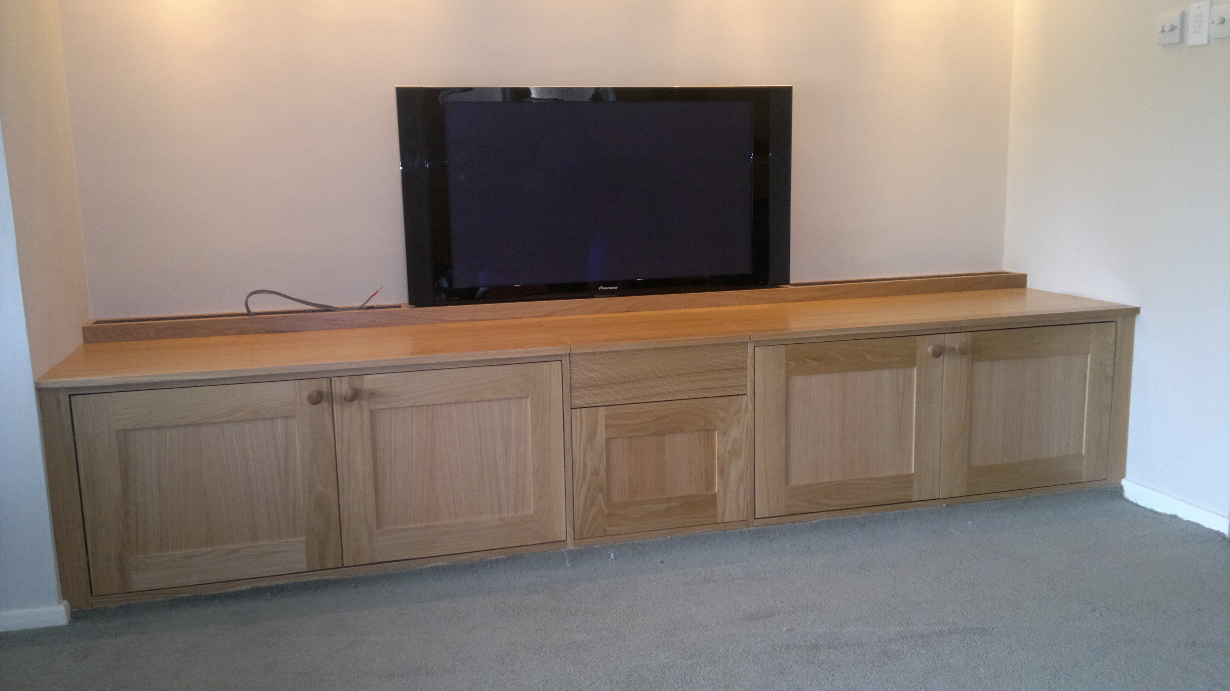 Low Level Tv Cabinet Tdk Joinery Bespoke Tvlcd Standstv Lifts For Bespoke Tv Cabinet (Image 11 of 15)
